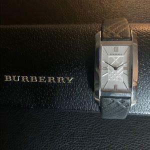 Burberry Ladies Swiss Quartz Leather Strap Watch